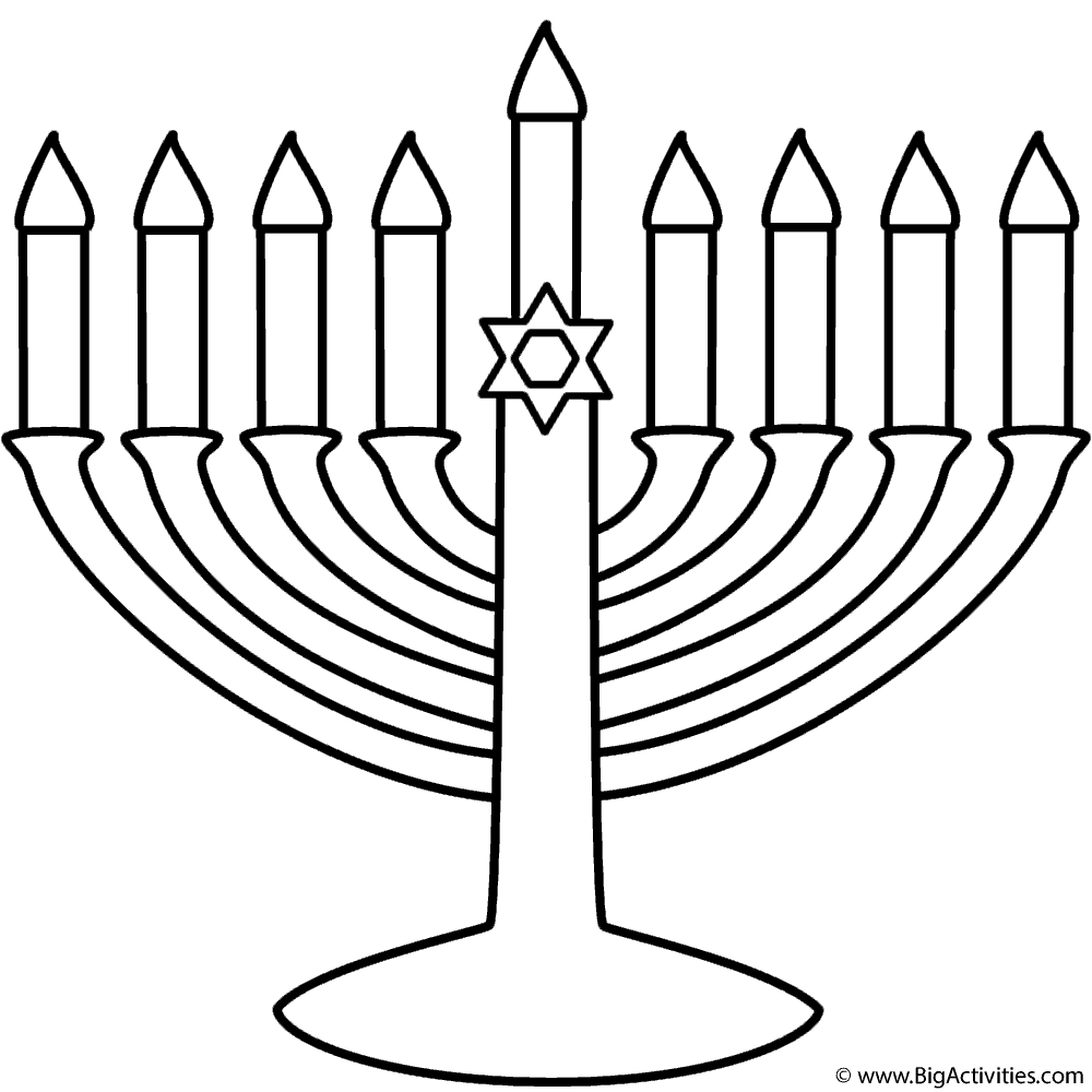 menorah coloring page hanukkah coloring pages free download on clipartmag page coloring menorah
