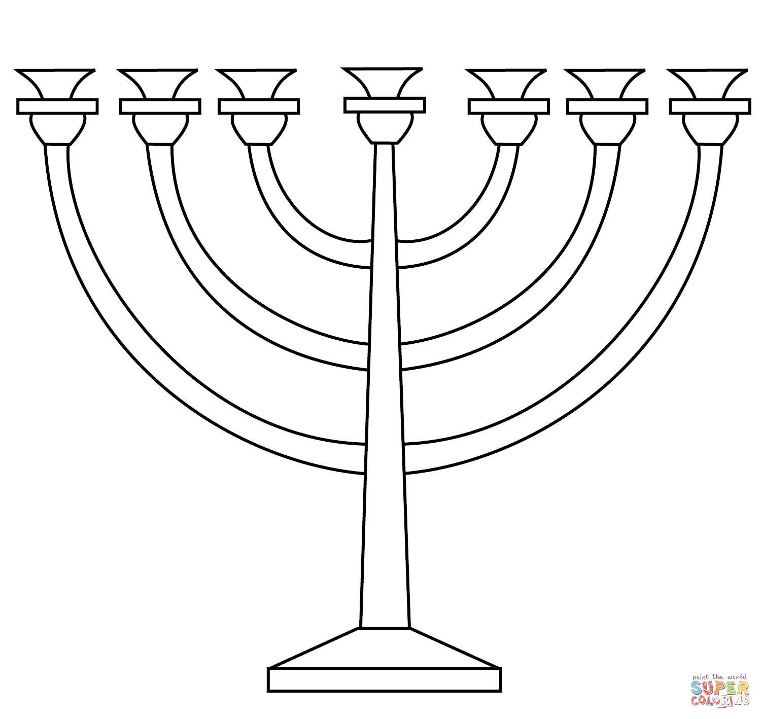 menorah coloring page the best free menorah drawing images download from 118 page coloring menorah