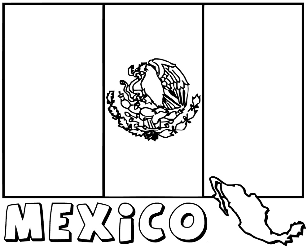 Mexican flag coloring