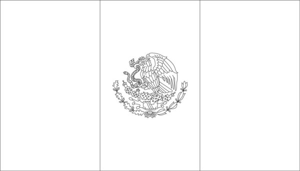 mexican flag coloring mexican flag drawing at getdrawings free download mexican flag coloring