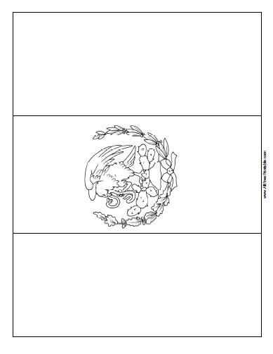 mexican flag coloring mexico coloring pages flag coloring mexican