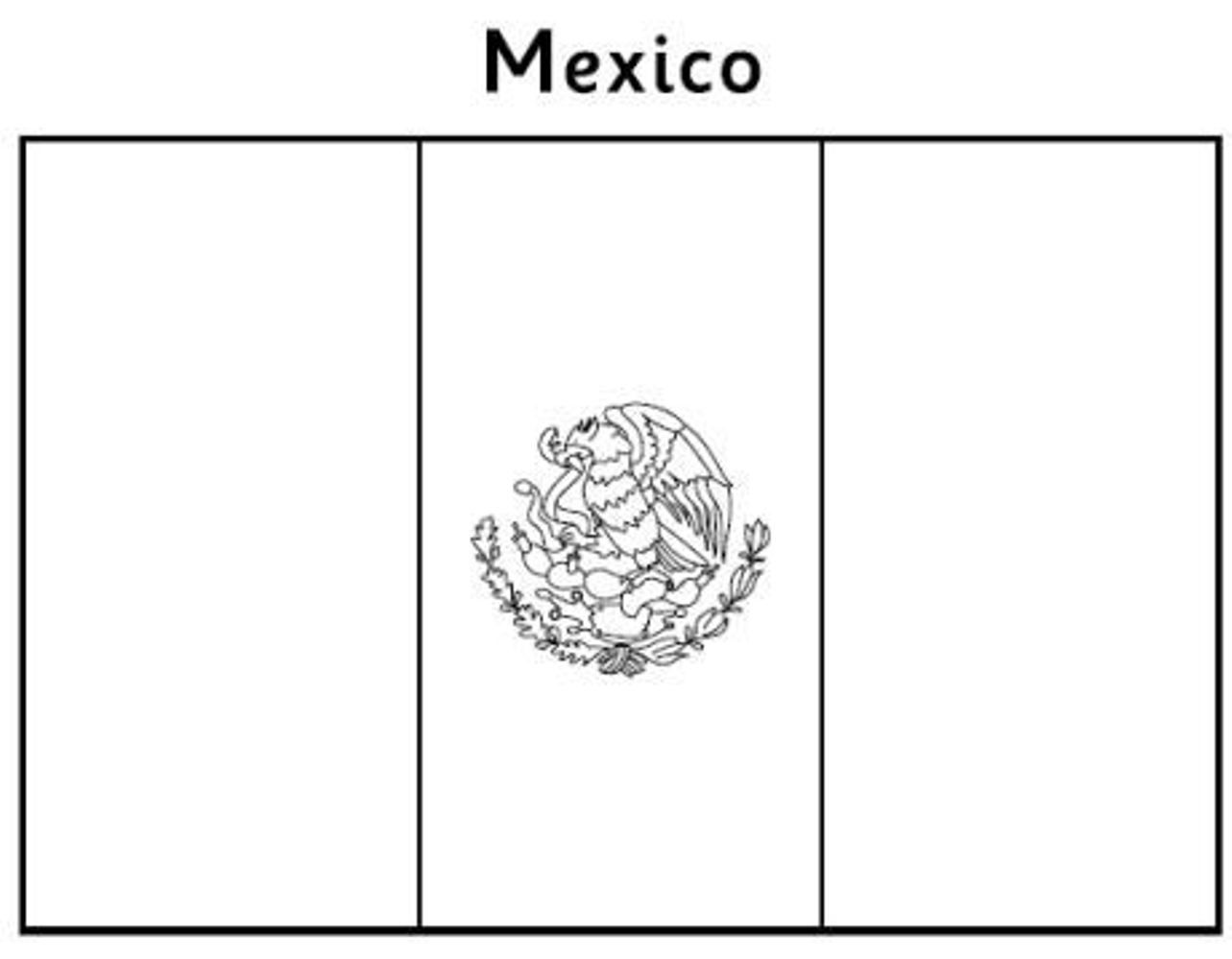 mexican flag coloring mexico flag1 countries coloring pages coloring book flag mexican coloring