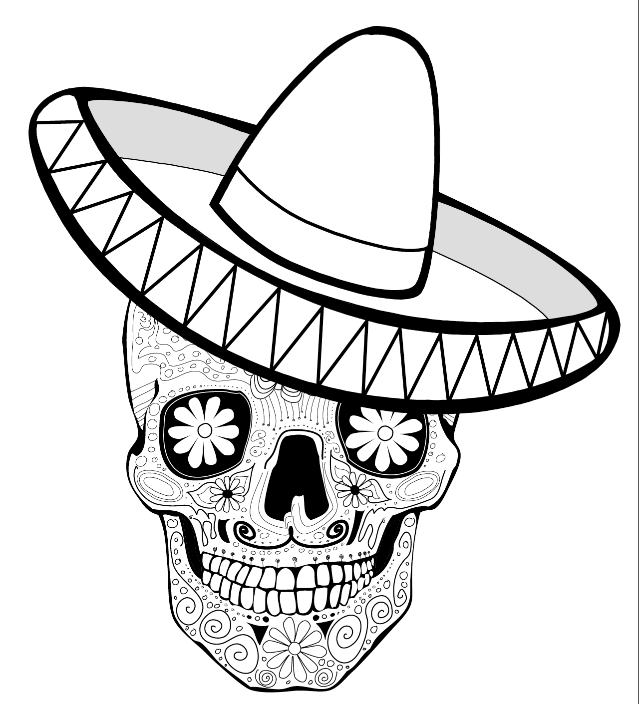 mexico coloring sheet mexican hat coloring page at getcoloringscom free sheet coloring mexico