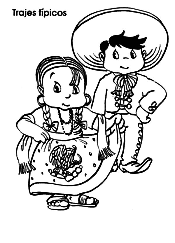 mexico coloring sheet mexican native in mexican dress coloring pages color luna sheet coloring mexico