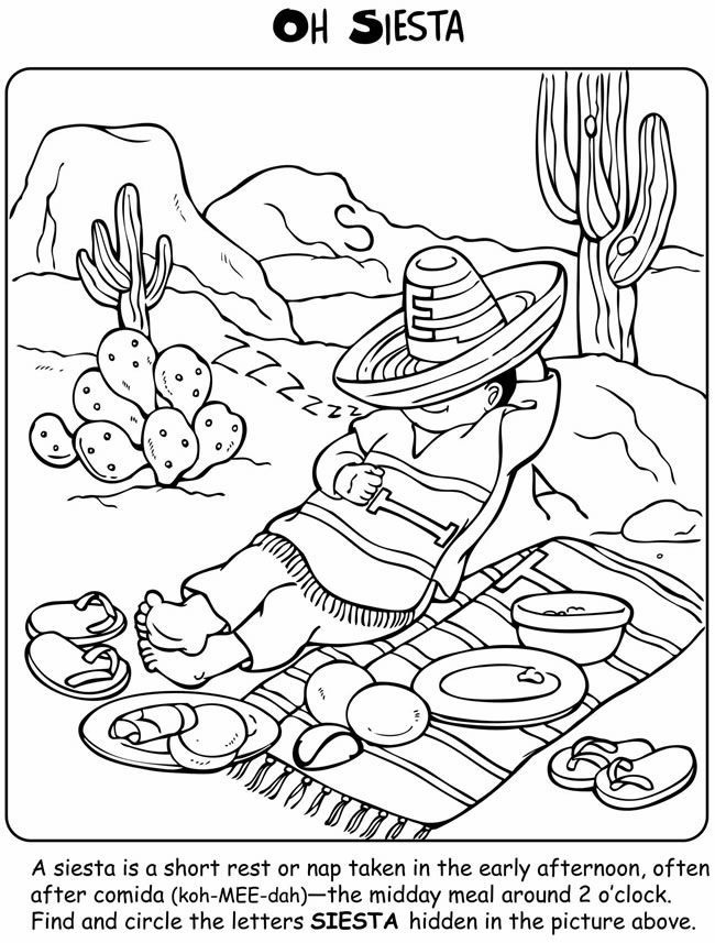 mexico coloring sheet welcome to dover publications let39s learn about mexico sheet mexico coloring