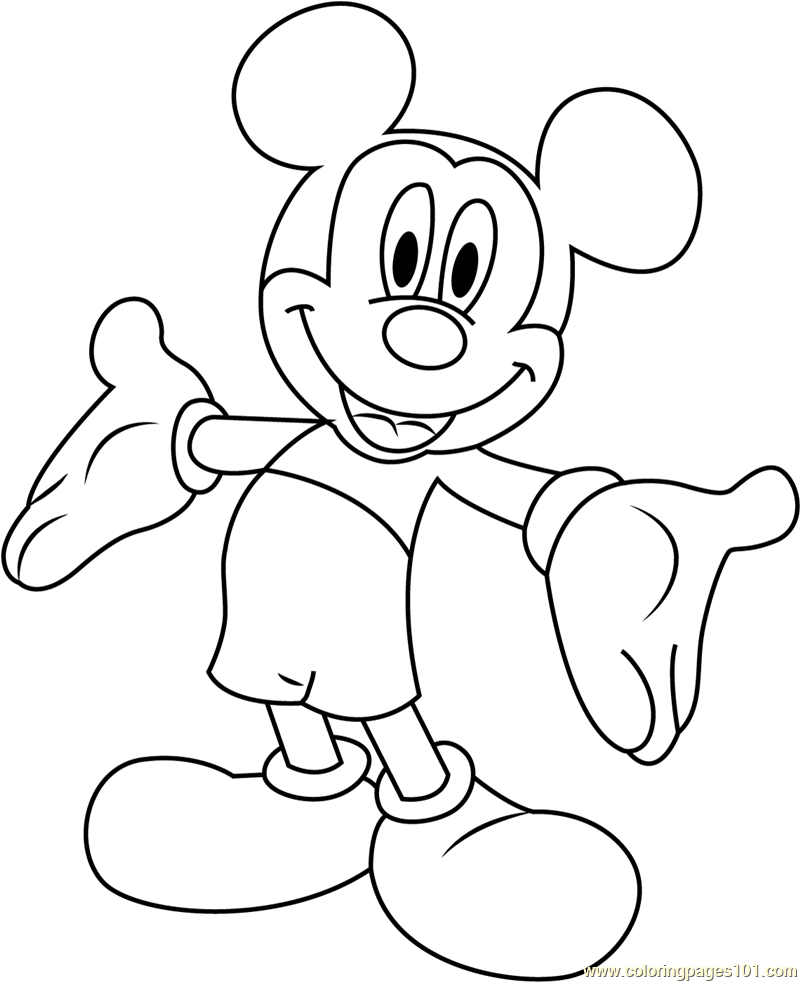 mickey mouse characters coloring pages classic mickey mouse coloring pages 3 disneyclipscom mouse pages characters mickey coloring