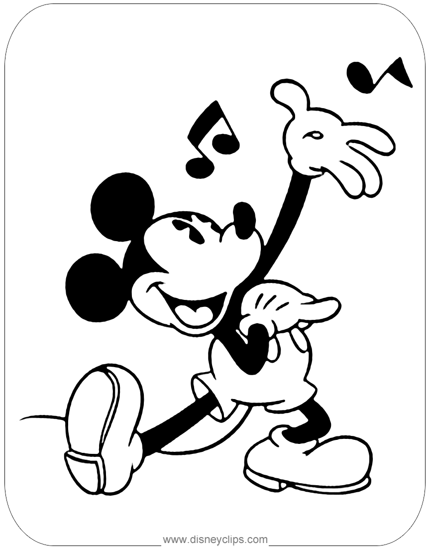 mickey mouse characters coloring pages mickey mouse coloring pages 4 disneyclipscom characters mouse pages mickey coloring