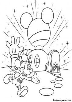 mickey mouse club house coloring pages printable coloring pages mickey mouse clubhouse club coloring house mouse pages mickey