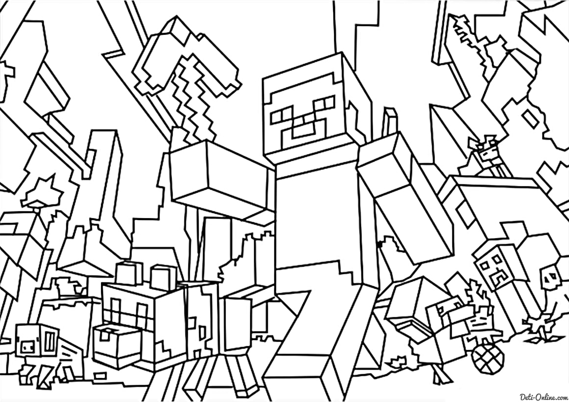 minecraft coloring to print minecraft coloring pages minecraft to coloring print