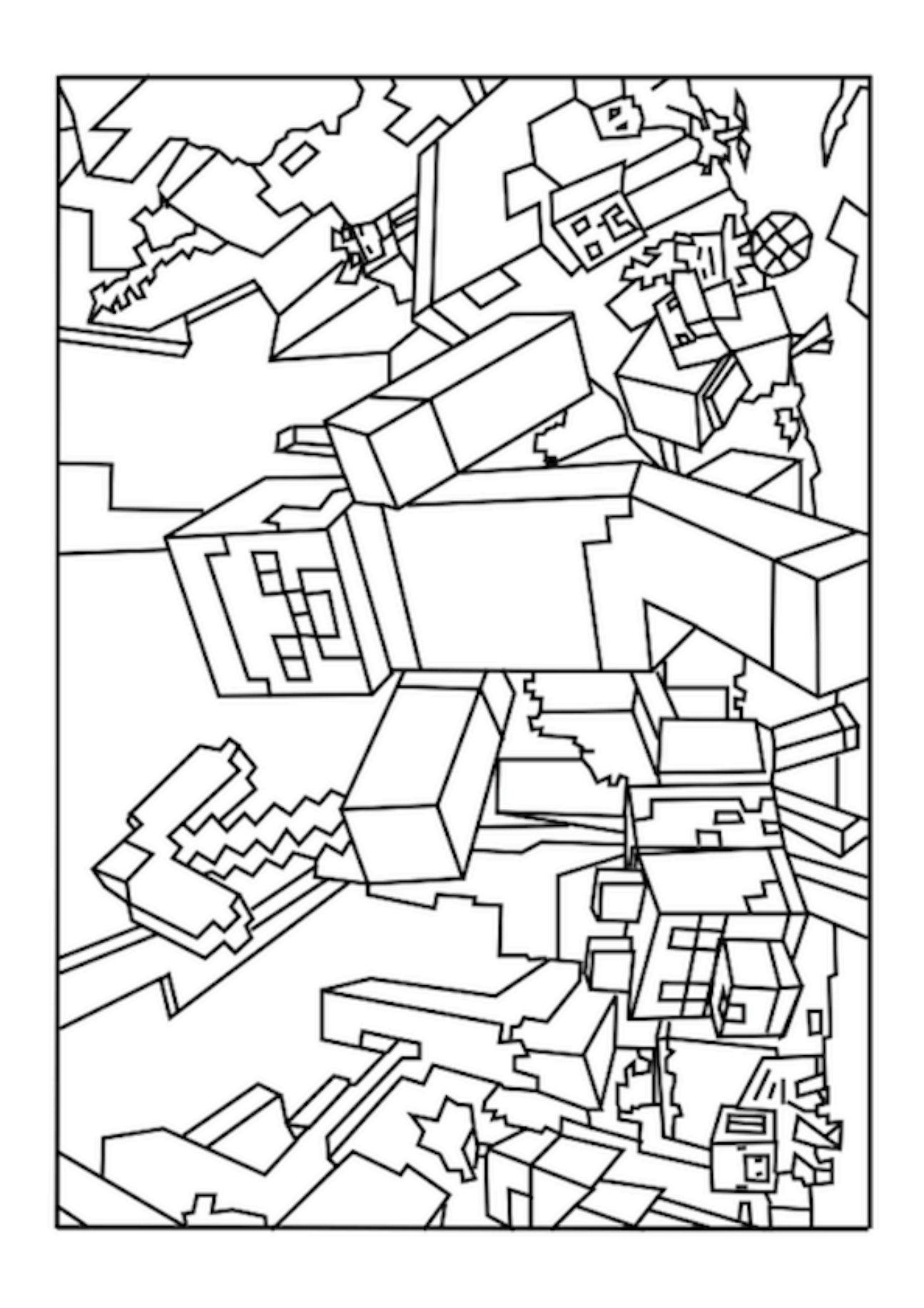 Minecraft coloring to print