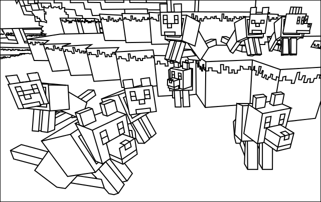 minecraft colour pages minecraft village coloring pages to download and print for pages colour minecraft