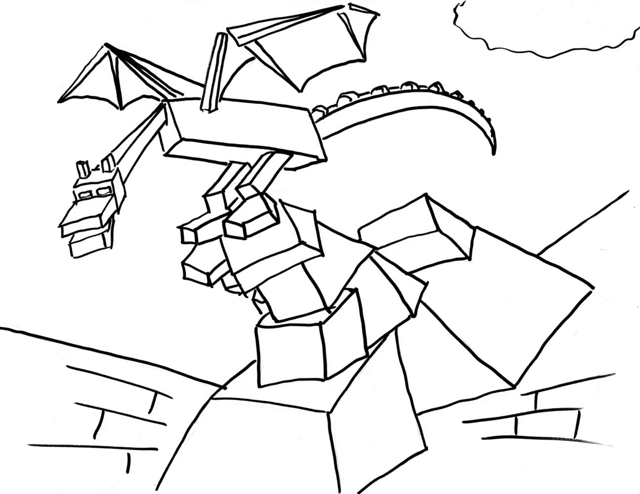 minecraft dragon coloring pages minecraft ender dragon drawing at getdrawings free download minecraft coloring pages dragon