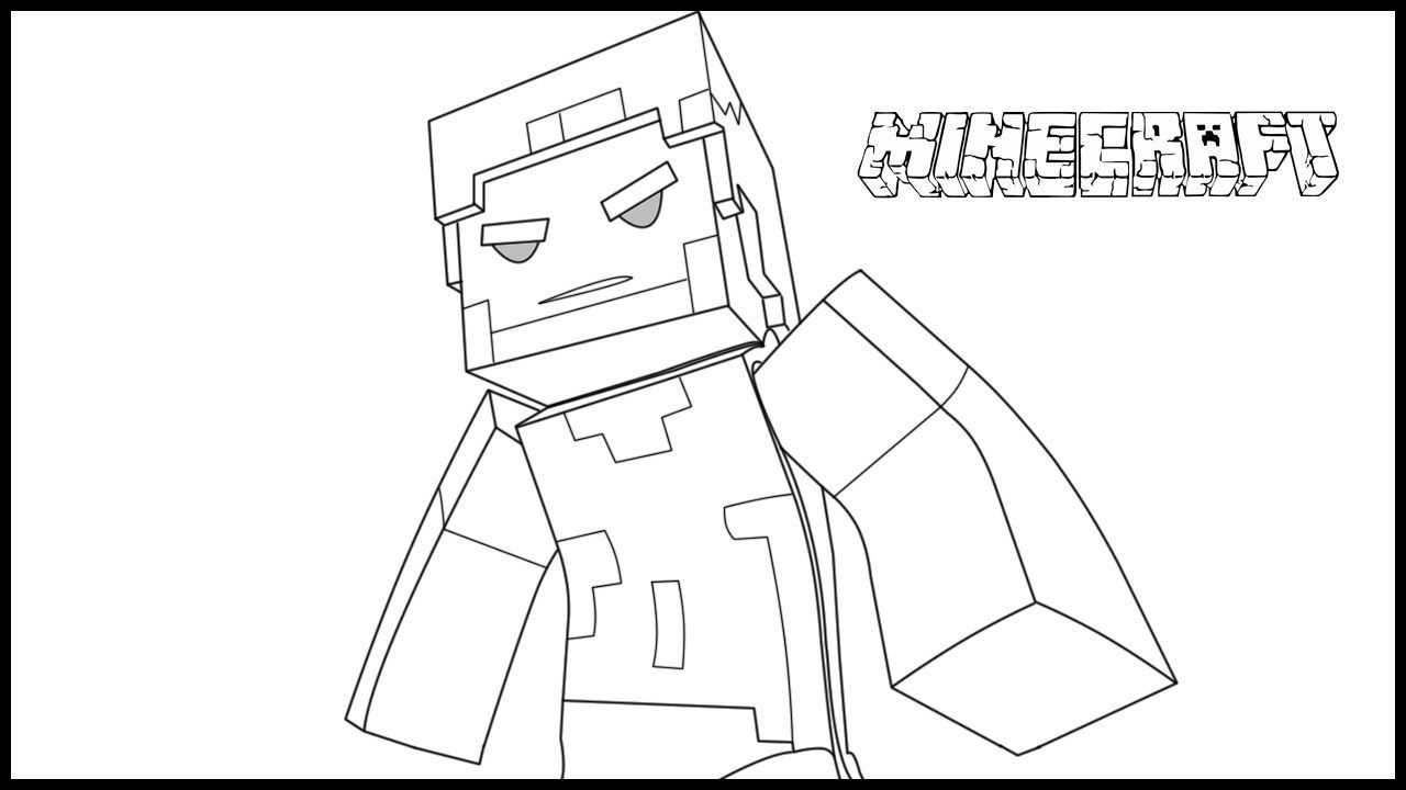 minecraft herobrine coloring pages minecraft herobrine drawing at paintingvalleycom herobrine minecraft coloring pages