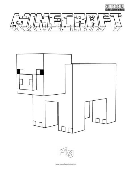 minecraft pig printable printable minecraft mobs coloring pages coloring kids printable pig minecraft