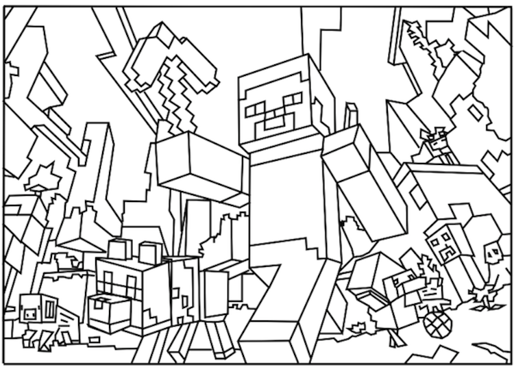 minecraft printouts minecraft coloring pages them kids minecraft coloring printouts minecraft
