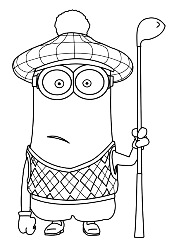minion coloring easy minion coloring pages at getcoloringscom free coloring minion