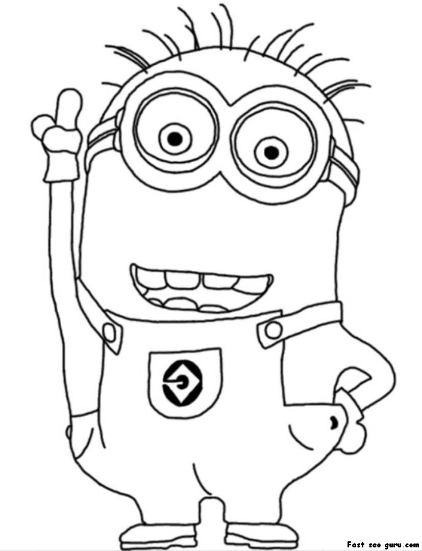 minion coloring evil minion coloring pages at getcoloringscom free minion coloring
