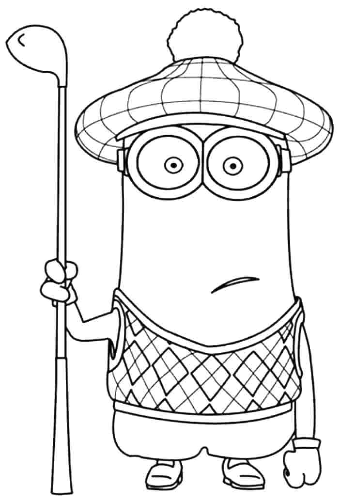minion coloring funny minions coloring page free printable coloring coloring minion