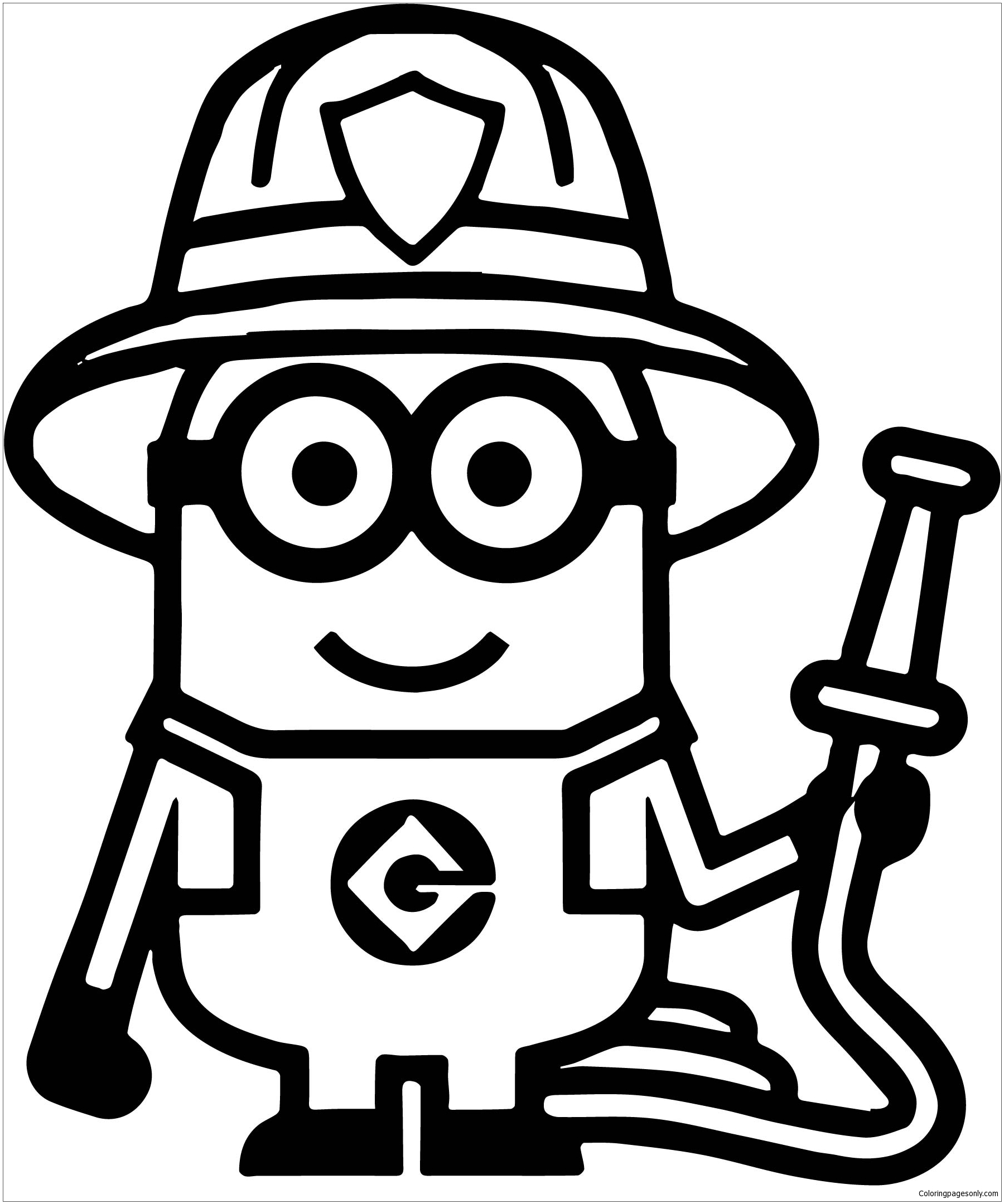minion coloring kevin the minion coloring pages at getcoloringscom free coloring minion