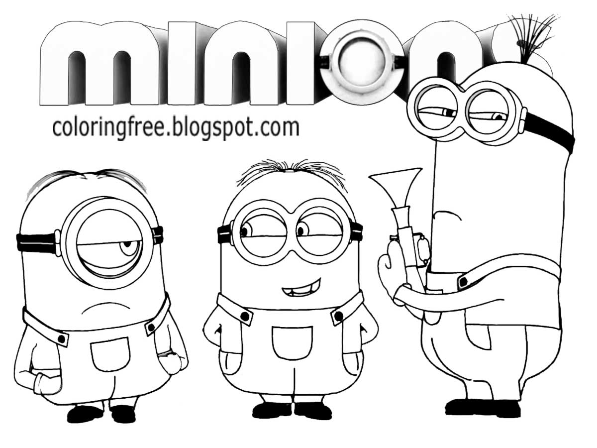 minions drawing free coloring pages printable pictures to color kids minions drawing