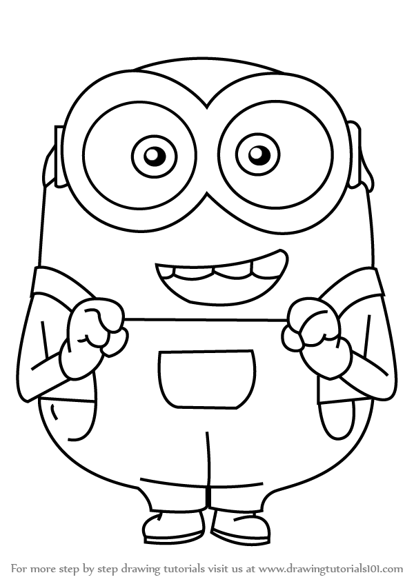minions drawing learn how to draw bob from minions minions step by step minions drawing