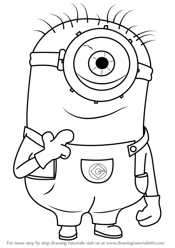 minions drawing step by step how to draw stuart from minions drawing minions