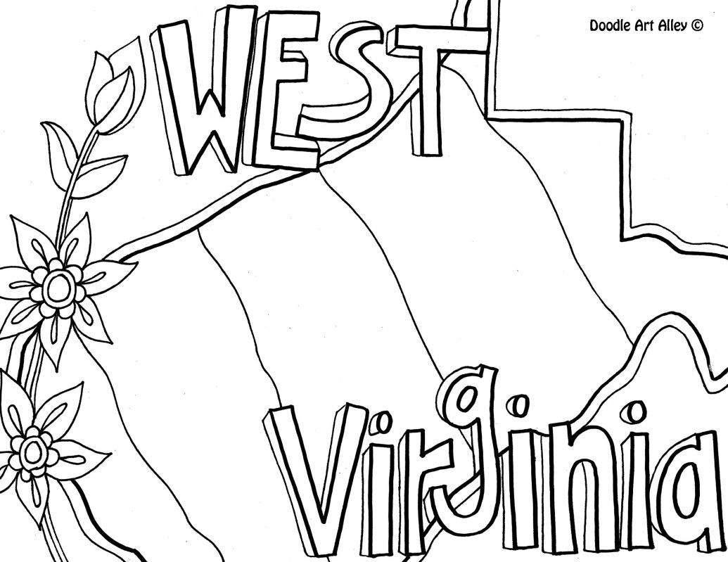 minnesota state flower west virginia coloring page by doodle art alley with minnesota state flower