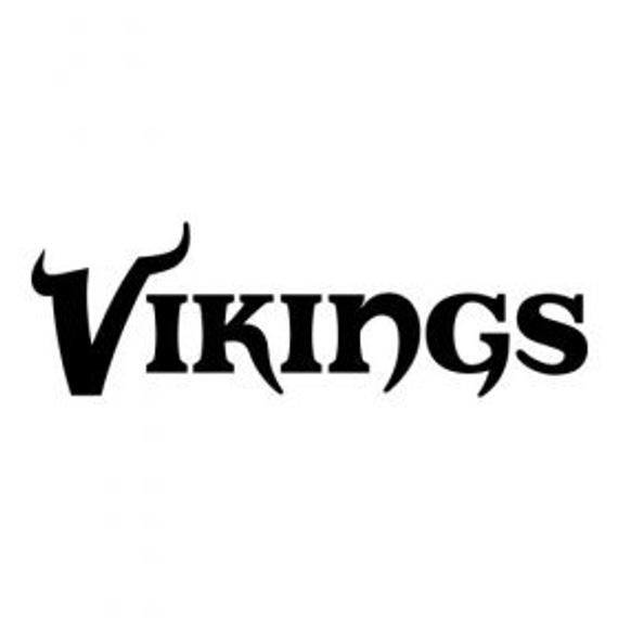 minnesota vikings logo black and white sport decals image by decal labs viking logo vikings vikings logo minnesota and white black
