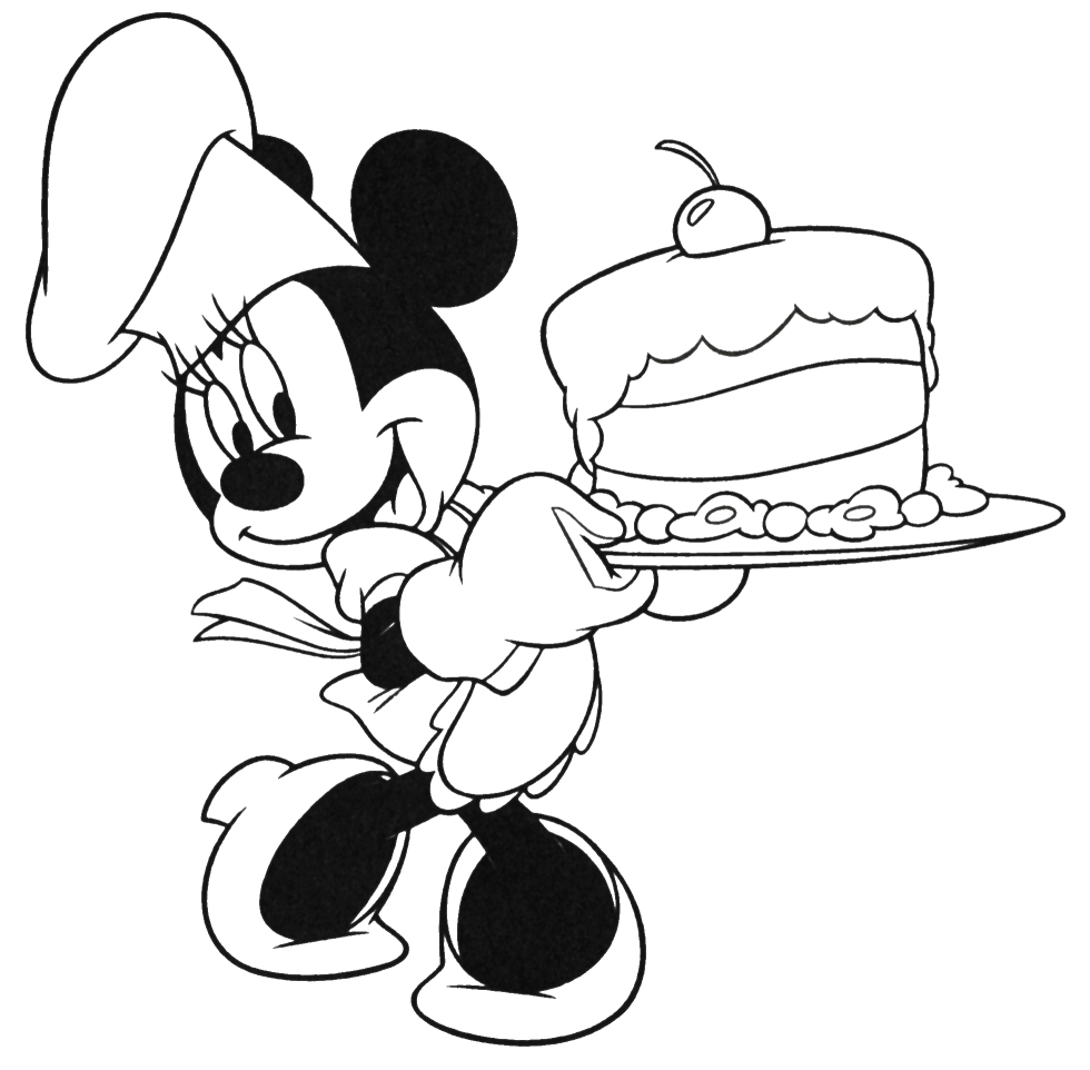 Minnie mouse coloring template