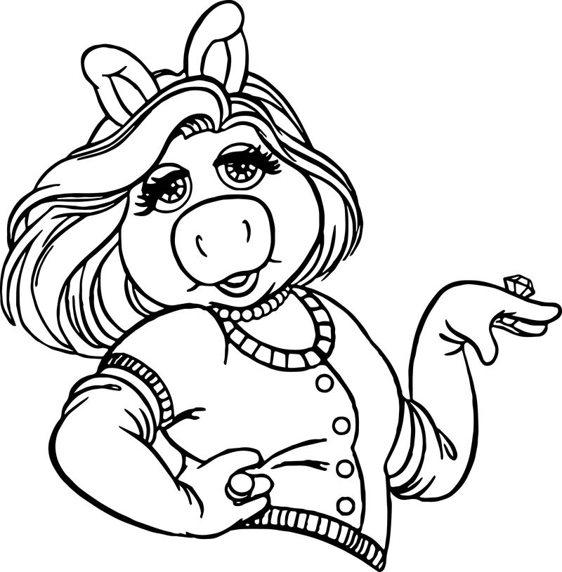 miss piggy coloring pages baby miss piggy from muppet babies coloring pages free pages coloring miss piggy