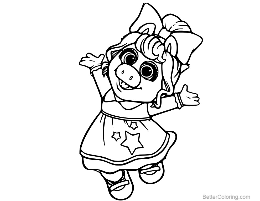miss piggy coloring pages miss piggy coloring pages at getcoloringscom free miss piggy coloring pages