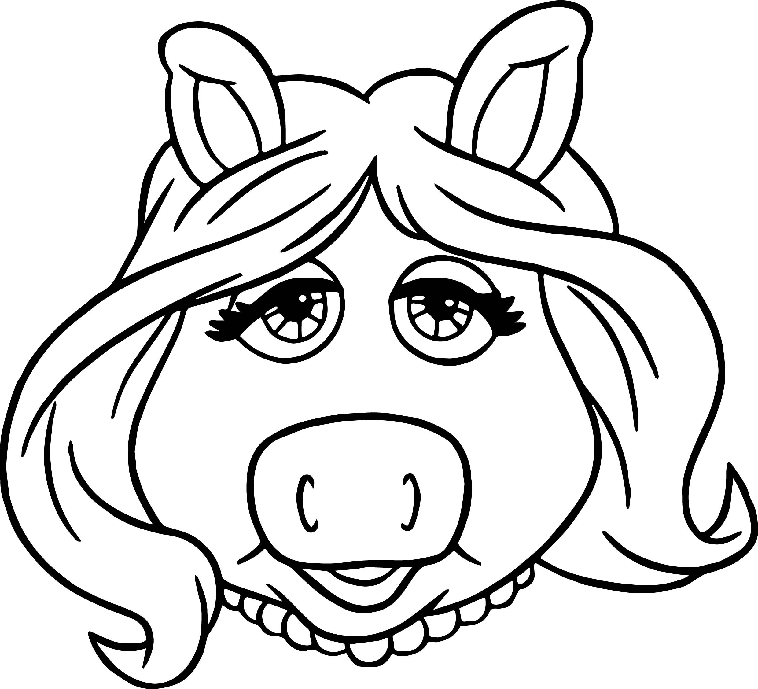 miss piggy coloring pages miss piggy free colouring pages coloring pages piggy miss