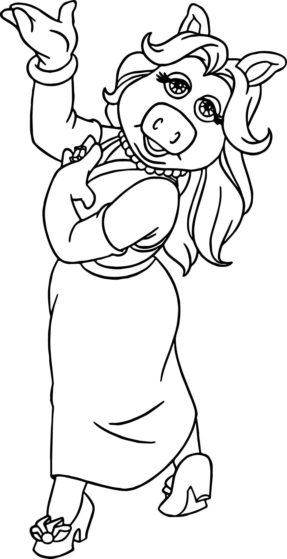 miss piggy coloring pages miss piggy from muppet babies coloring pages bulk color piggy miss pages coloring