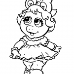 miss piggy coloring pages muppet babies baby miss piggy coloring pages free miss piggy pages coloring