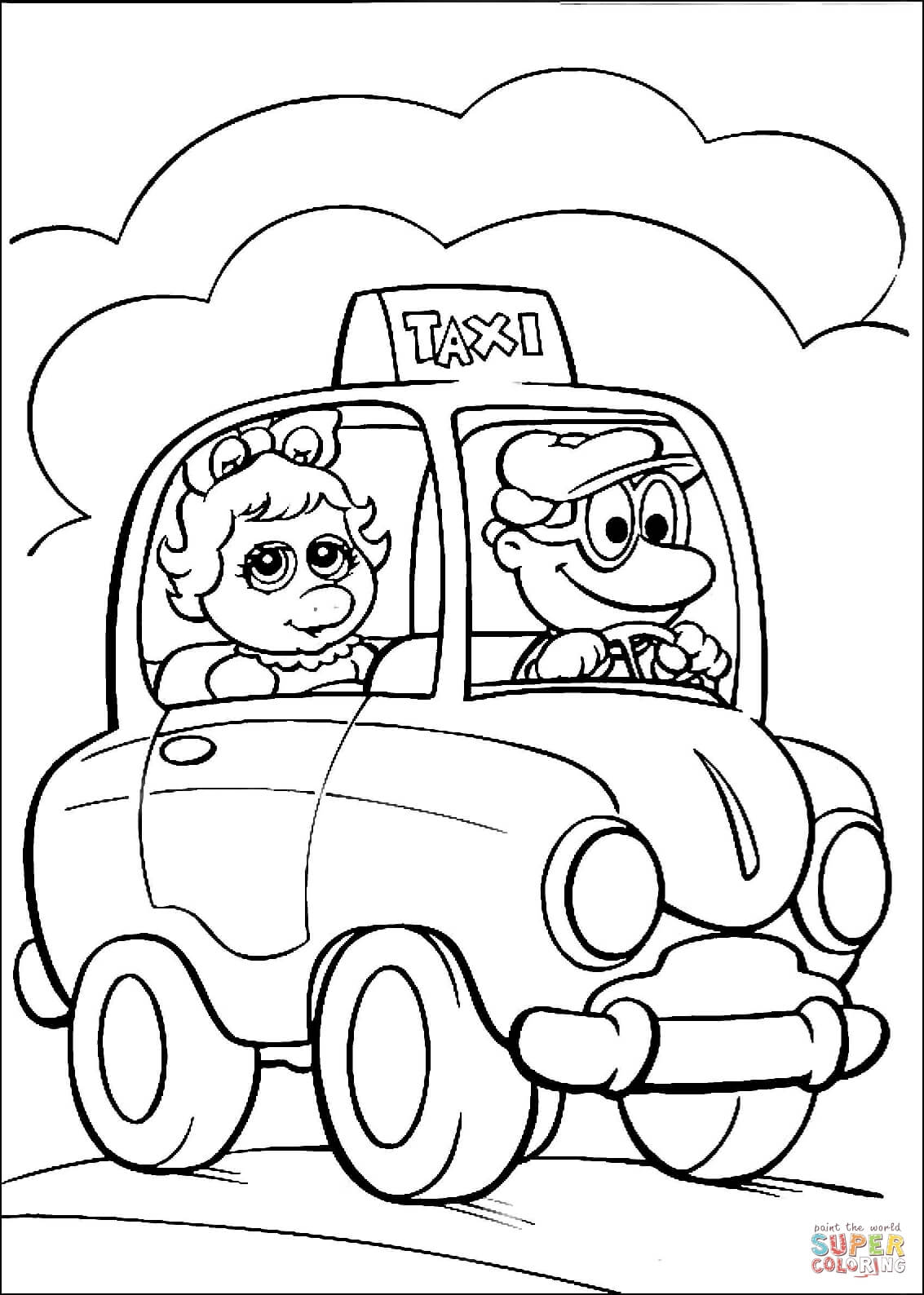 miss piggy coloring pages muppet show coloring pages learny kids pages piggy miss coloring