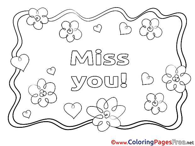 miss you coloring pages miss you coloring pages at getcoloringscom free miss coloring pages you