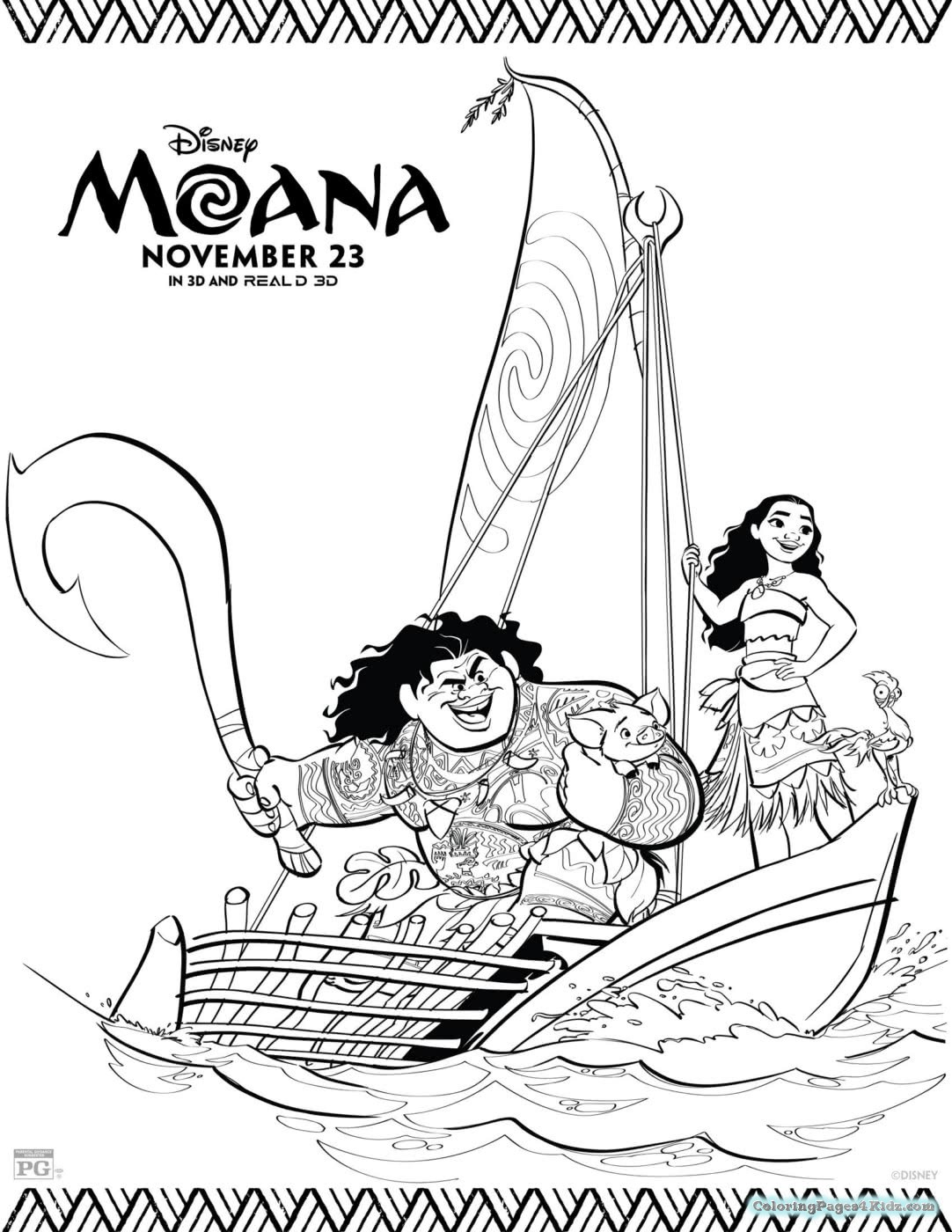 moana coloring pages coloring pages baby moana easy coloring pages for kids moana coloring pages