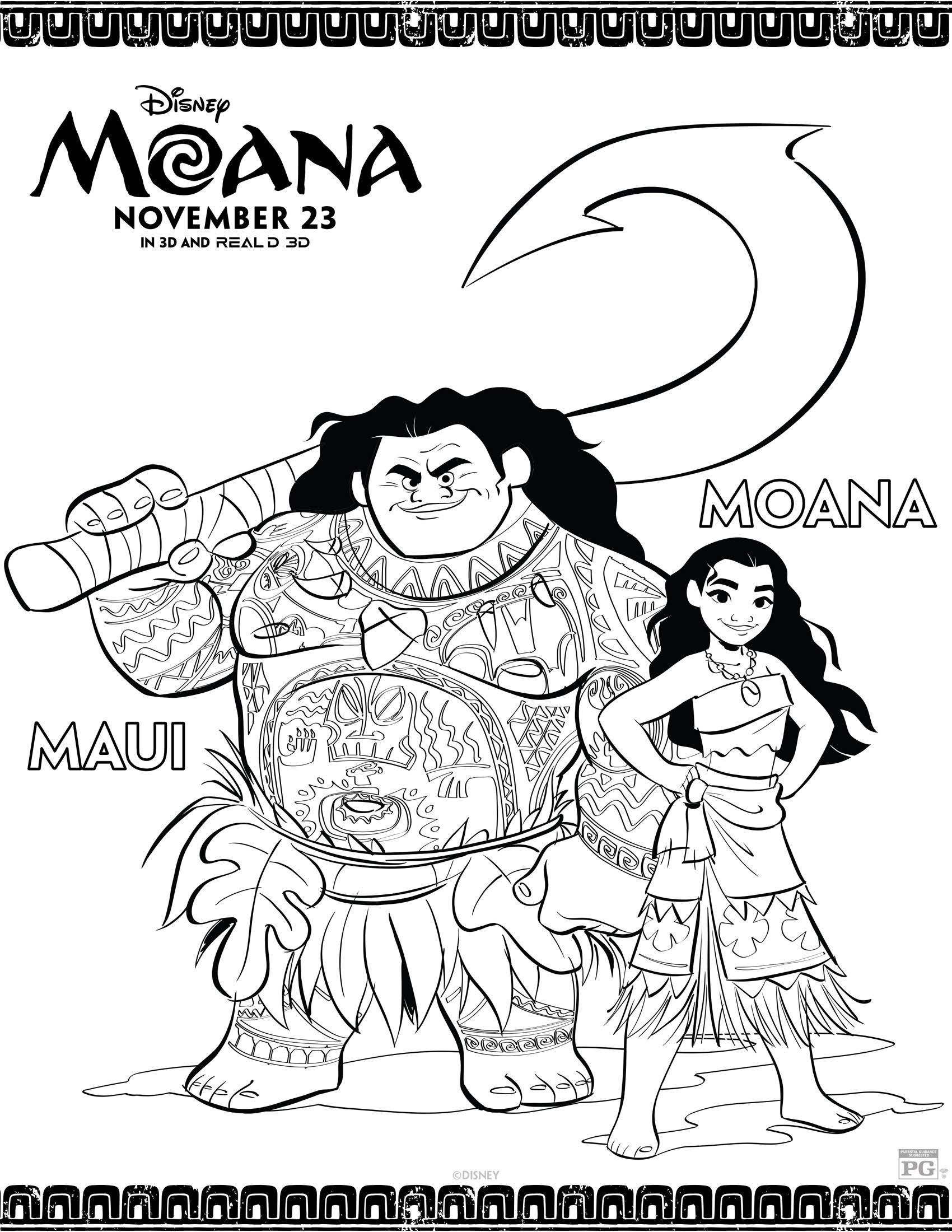 moana coloring pages disney39s moana coloring pages and activity sheets printables coloring moana pages 1 1