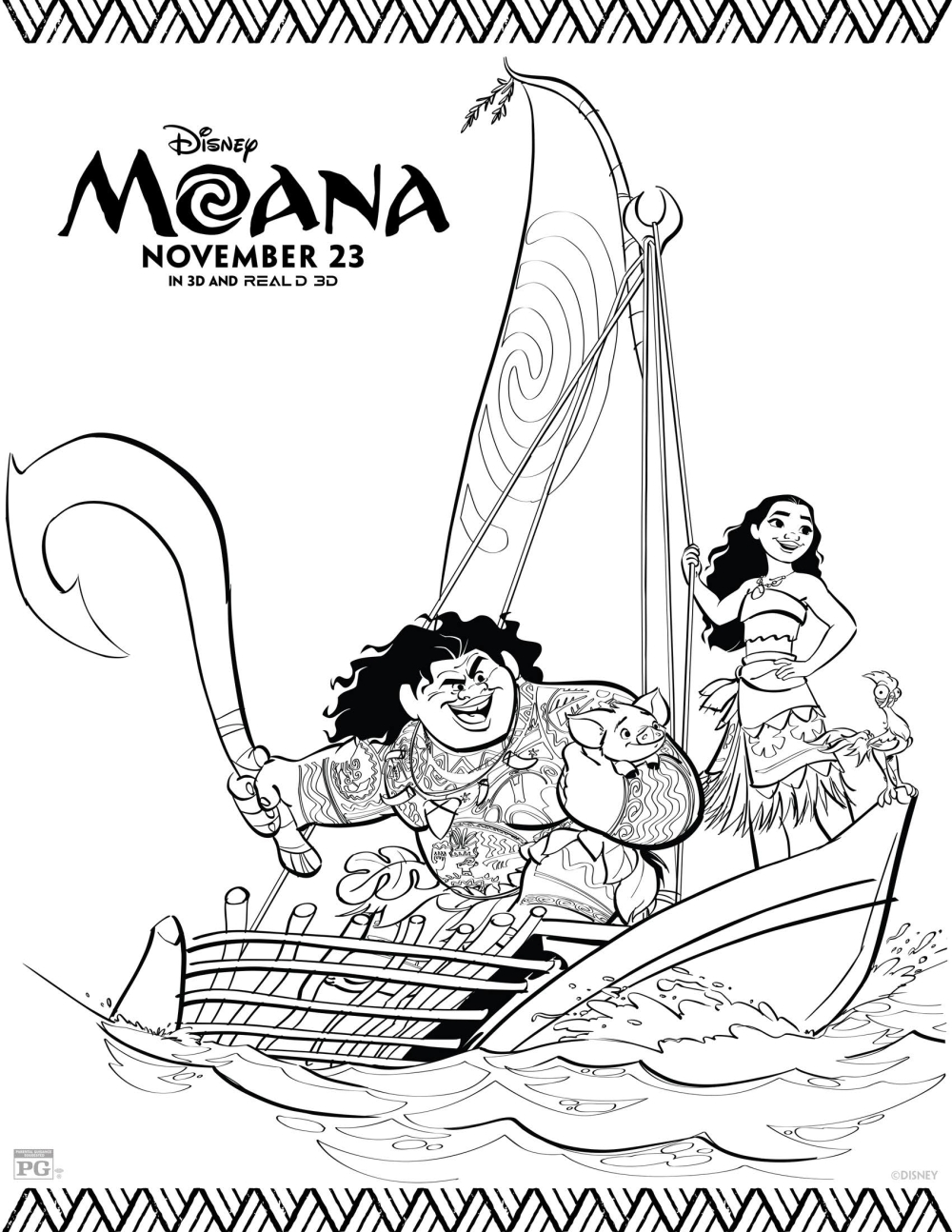 moana coloring pages disney39s moana coloring pages moana lovebugs and postcards coloring pages moana