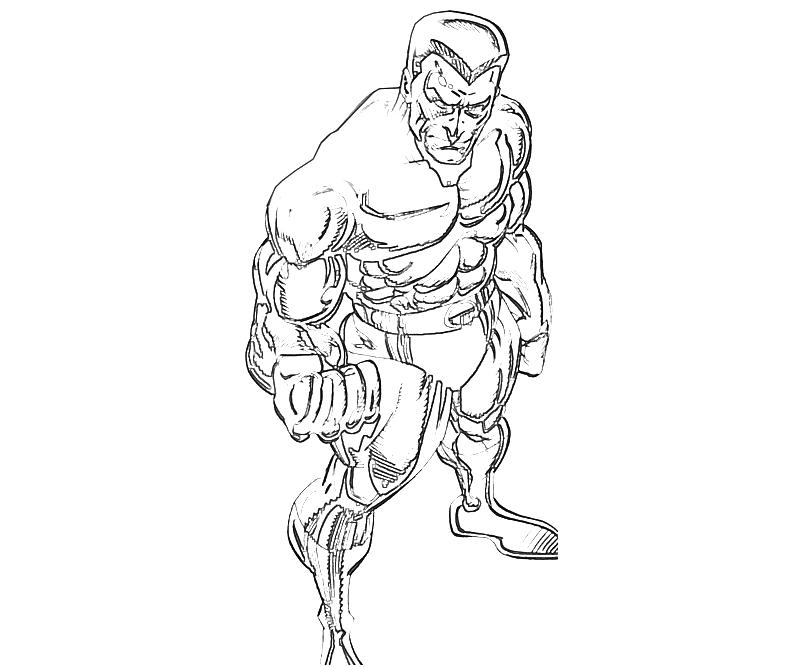 Molten man coloring pages