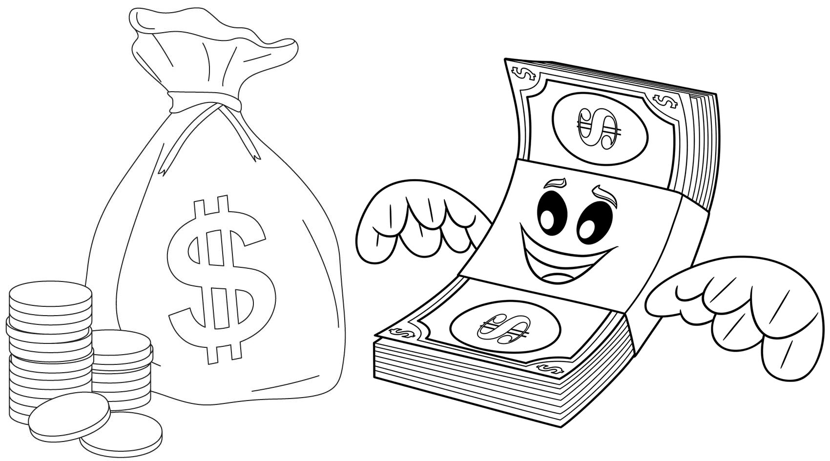 money coloring pages printable money coloring pages for kids cool2bkids coloring pages money