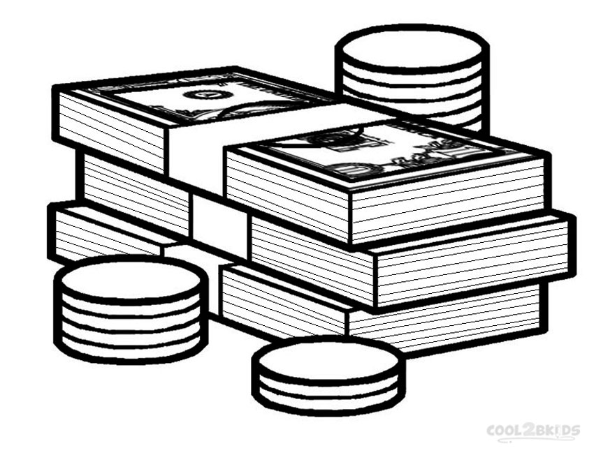 money coloring pages stacks of money coloring sheet coloring pages money