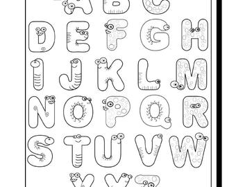 monster alphabet coloring pages cute monster alphabet coloring pages letter e alphabet monster coloring pages