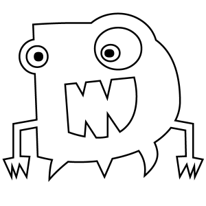monster alphabet coloring pages scary monsters alphabet coloring pages getcoloringpagescom alphabet monster pages coloring