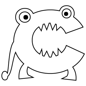 monster alphabet coloring pages scary monsters alphabet coloring pages getcoloringpagescom monster coloring alphabet pages