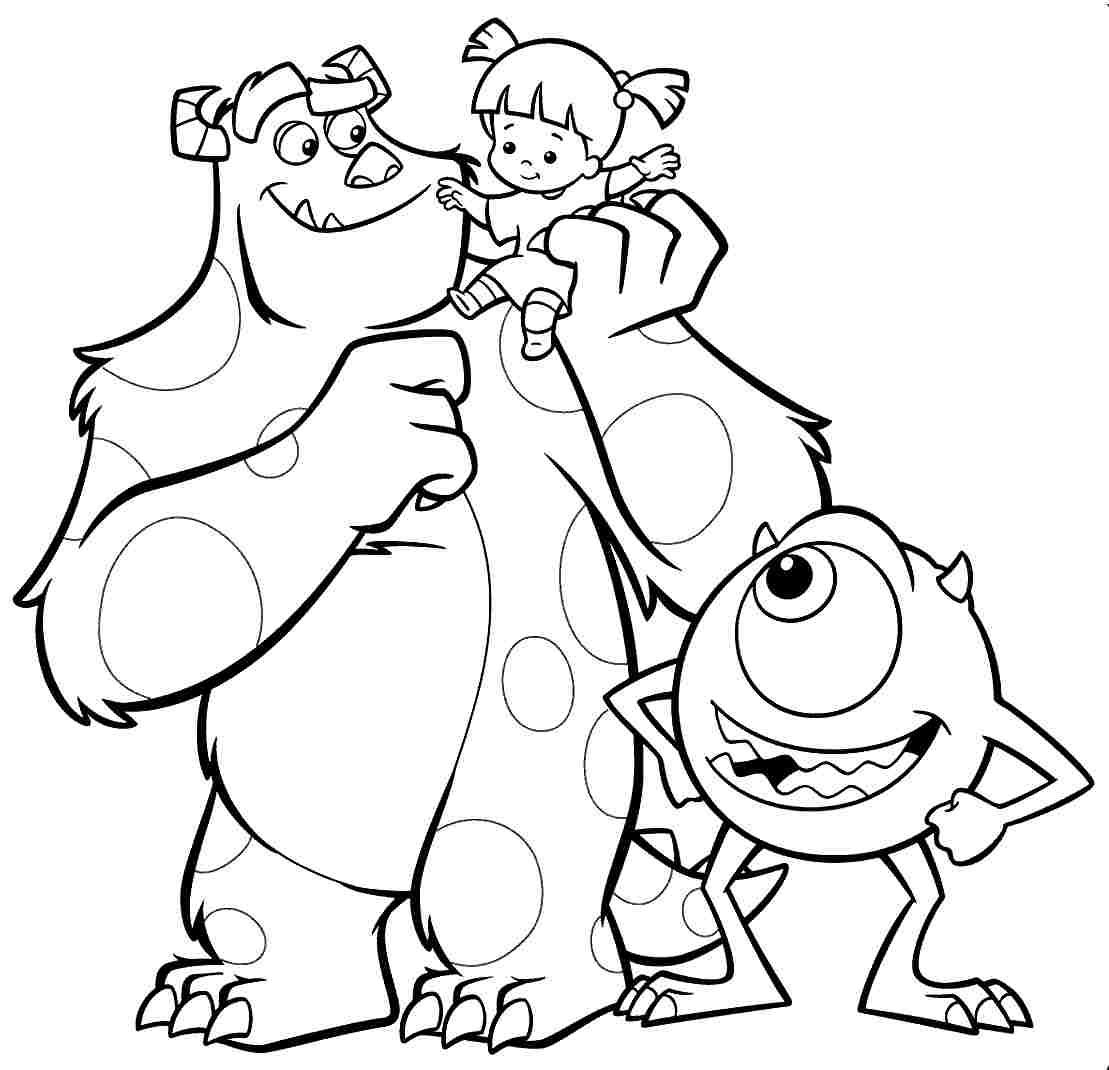 monster coloring sheets monster inc coloring pages to download and print for free monster coloring sheets