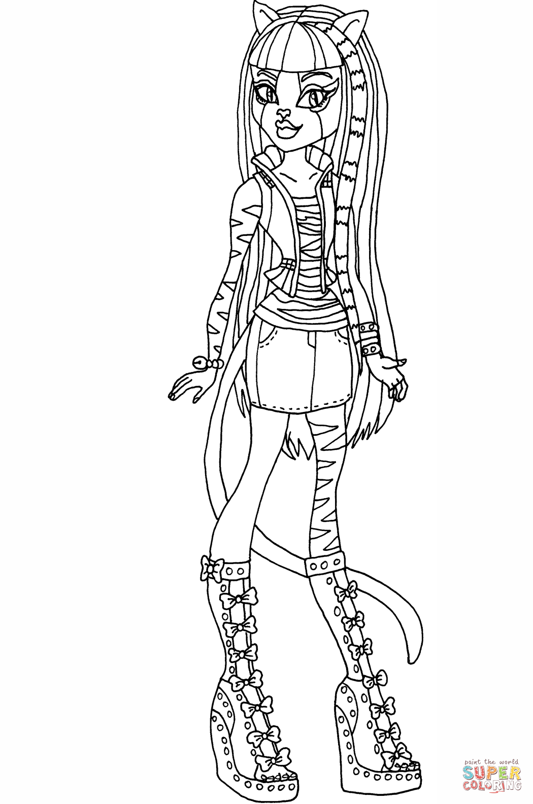 monster high coloring games cartoon meowlody coloring page free printable coloring pages high monster coloring games