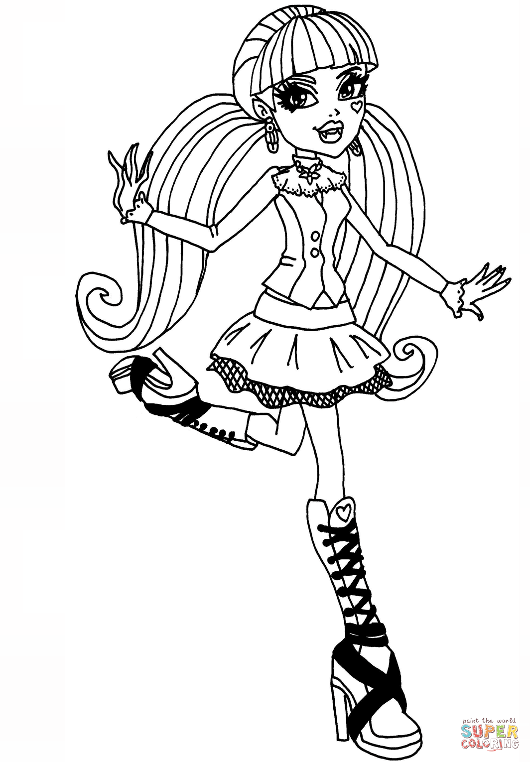 monster high coloring games monster high catty noir coloring page free printable games high coloring monster