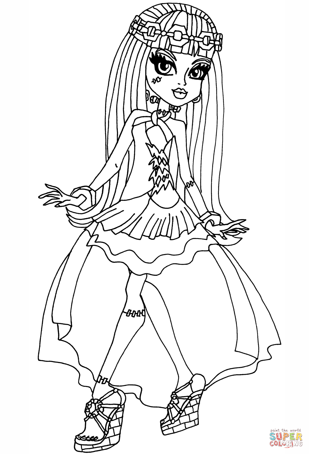 monster high coloring pages frankie monster high coloring pages free download on clipartmag pages monster coloring frankie high