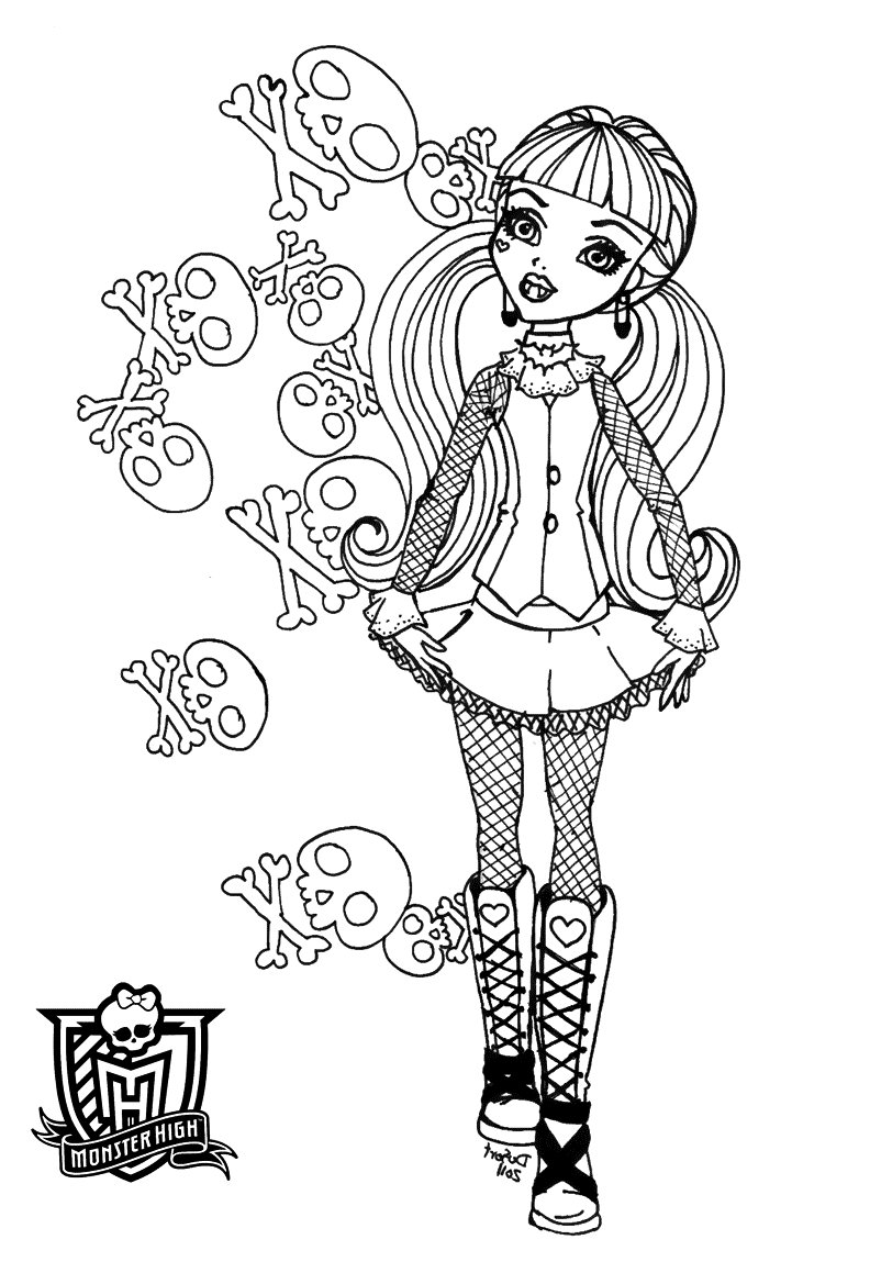 monster high coloring pages to print for free free printable monster high coloring pages february 2013 to pages high free monster print for coloring